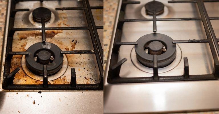 taches incrustées sur la plaque de cuisson